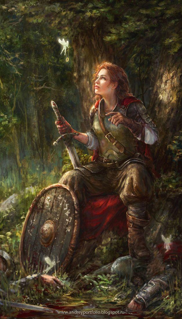 Female Merchant Fantasy Concept Art